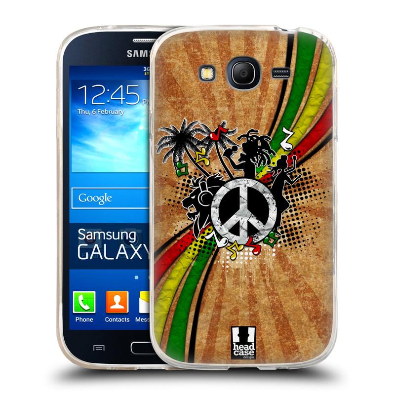 Silikonové pouzdro na mobil Samsung Galaxy Grand Neo Plus HEAD CASE REGGAE (Silikonový kryt či obal na mobilní telefon Samsung Galaxy Grand Neo Plus Duos GT-I9060i)
