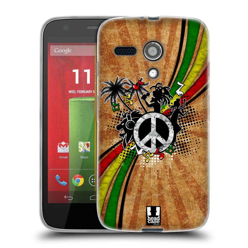 Silikonové pouzdro na mobil Motorola Moto G HEAD CASE REGGAE (Silikonový kryt či obal na mobilní telefon Motorola Moto G)