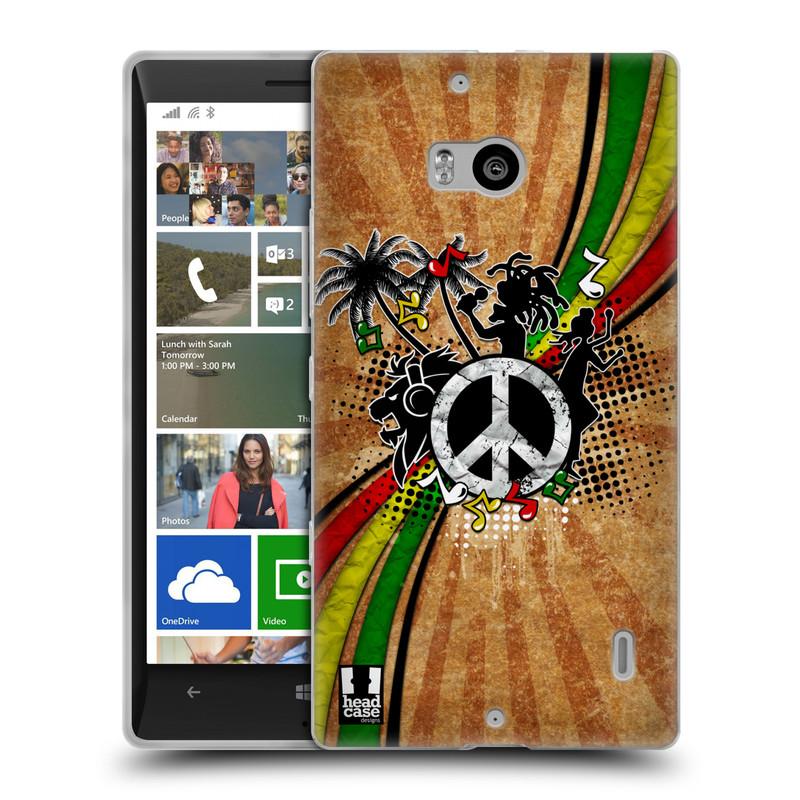 Silikonové pouzdro na mobil Nokia Lumia 930 HEAD CASE REGGAE (Silikonový kryt či obal na mobilní telefon Nokia Lumia 930)