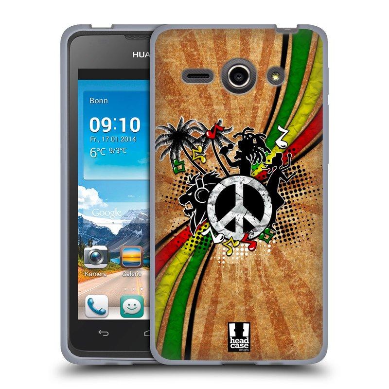 Silikonové pouzdro na mobil Huawei Ascend Y530 HEAD CASE REGGAE (Silikonový kryt či obal na mobilní telefon Huawei Ascend Y530)