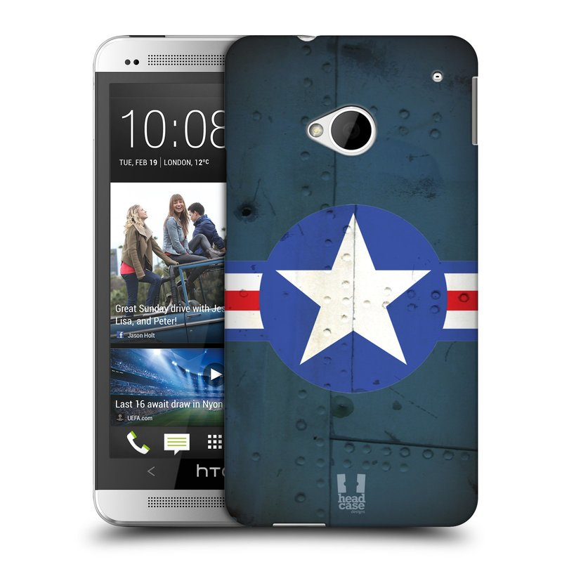 Plastové pouzdro na mobil HTC ONE M7 HEAD CASE POSTWAR (Kryt či obal na mobilní telefon HTC ONE M7)