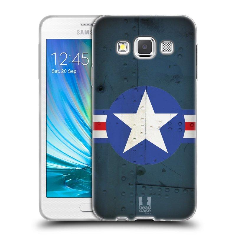 Silikonové pouzdro na mobil Samsung Galaxy A3 HEAD CASE POSTWAR (Silikonový kryt či obal na mobilní telefon Samsung Galaxy A3 SM-A300)
