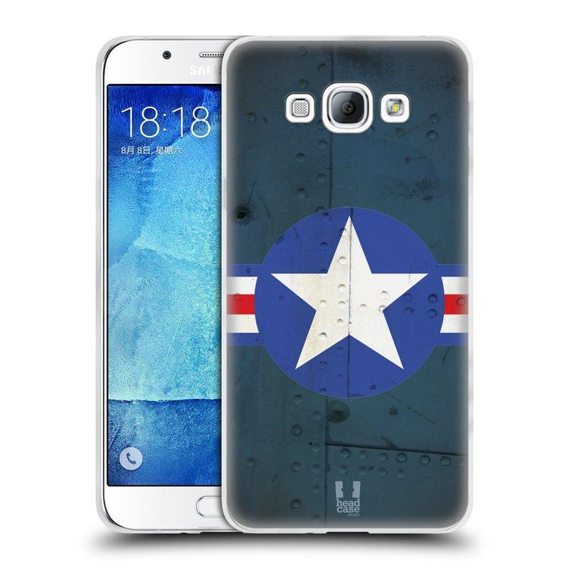 Silikonové pouzdro na mobil Samsung Galaxy A8 HEAD CASE POSTWAR (Silikonový kryt či obal na mobilní telefon Samsung Galaxy A8 SM-A800)