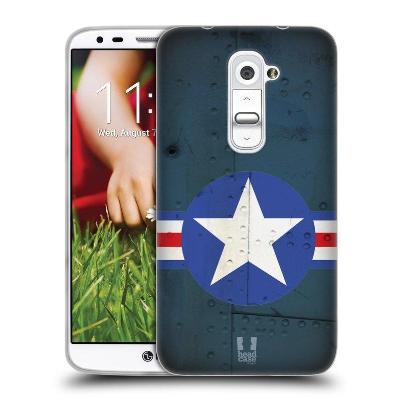 Silikonové pouzdro na mobil LG G2 HEAD CASE POSTWAR (Silikonový kryt či obal na mobilní telefon LG G2 D802)