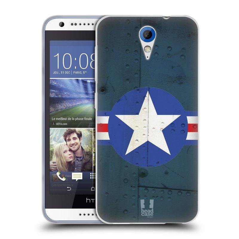 Silikonové pouzdro na mobil HTC Desire 620 HEAD CASE POSTWAR (Silikonový kryt či obal na mobilní telefon HTC Desire 620)