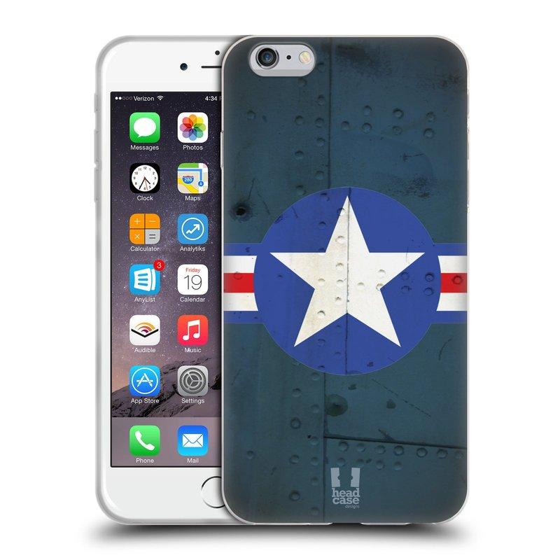 Silikonové pouzdro na mobil Apple iPhone 6 Plus a 6S Plus HEAD CASE POSTWAR (Silikonový kryt či obal na mobilní telefon Apple iPhone 6 Plus a 6S Plus)