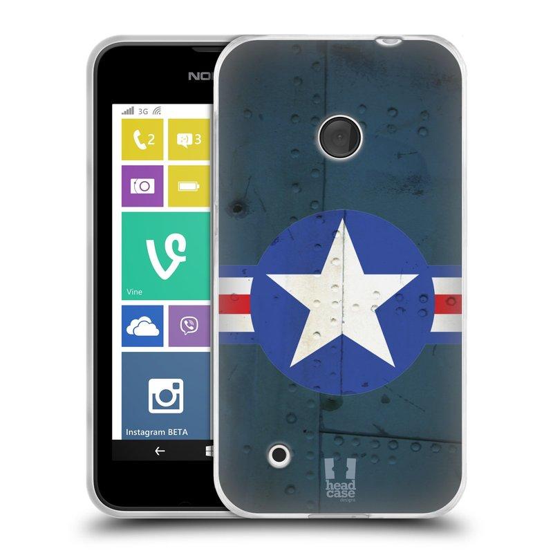 Silikonové pouzdro na mobil Nokia Lumia 530 HEAD CASE POSTWAR (Silikonový kryt či obal na mobilní telefon Nokia Lumia 530)