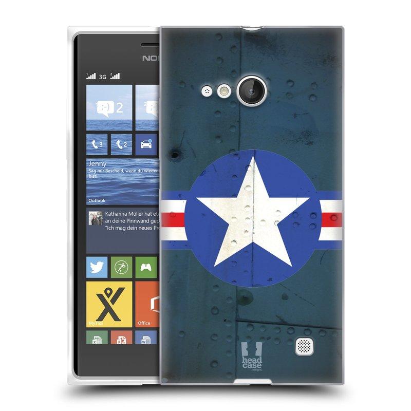 Silikonové pouzdro na mobil Nokia Lumia 730 Dual SIM HEAD CASE POSTWAR (Silikonový kryt či obal na mobilní telefon Nokia Lumia 730 Dual SIM)