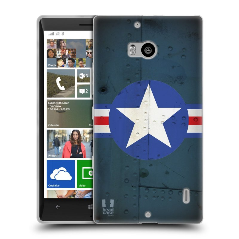 Silikonové pouzdro na mobil Nokia Lumia 930 HEAD CASE POSTWAR (Silikonový kryt či obal na mobilní telefon Nokia Lumia 930)