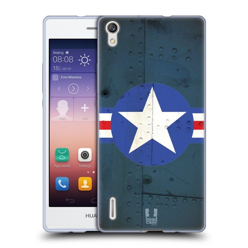 Silikonové pouzdro na mobil Huawei P7 HEAD CASE POSTWAR (Silikonový kryt či obal na mobilní telefon Huawei Ascend P7)