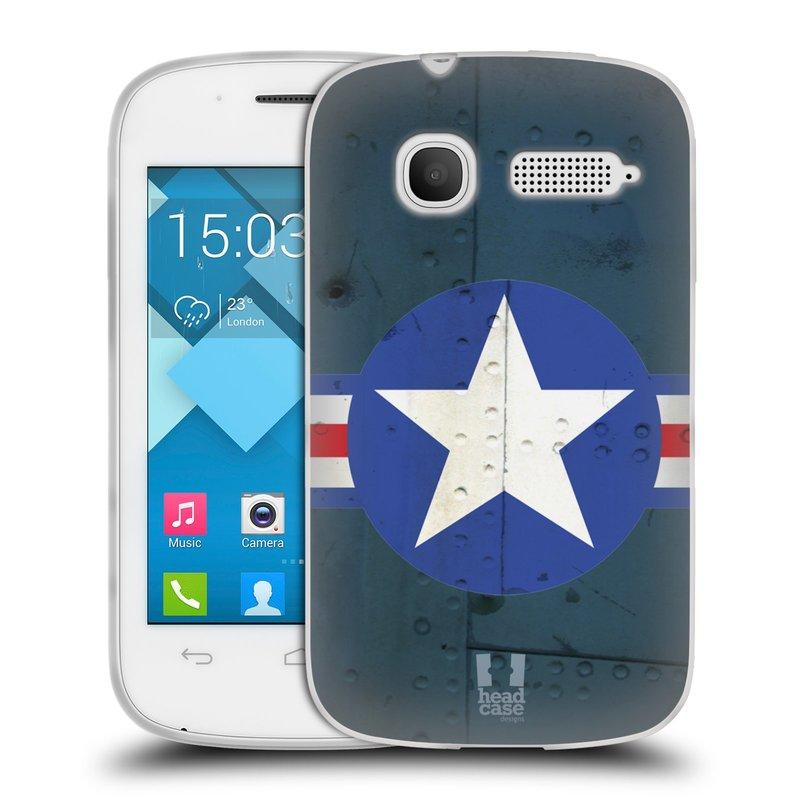 Silikonové pouzdro na mobil Alcatel One Touch Pop C1 HEAD CASE POSTWAR (Silikonový kryt či obal na mobilní telefon Alcatel OT-4015D POP C1)