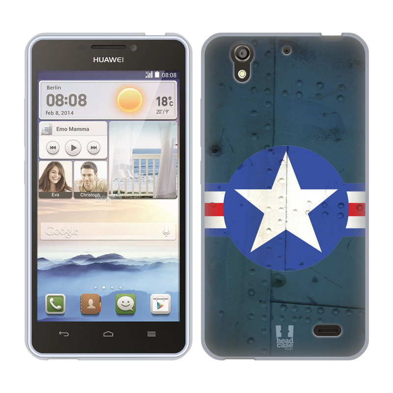 Silikonové pouzdro na mobil Huawei Ascend Y530 HEAD CASE POSTWAR (Silikonový kryt či obal na mobilní telefon Huawei Ascend Y530)