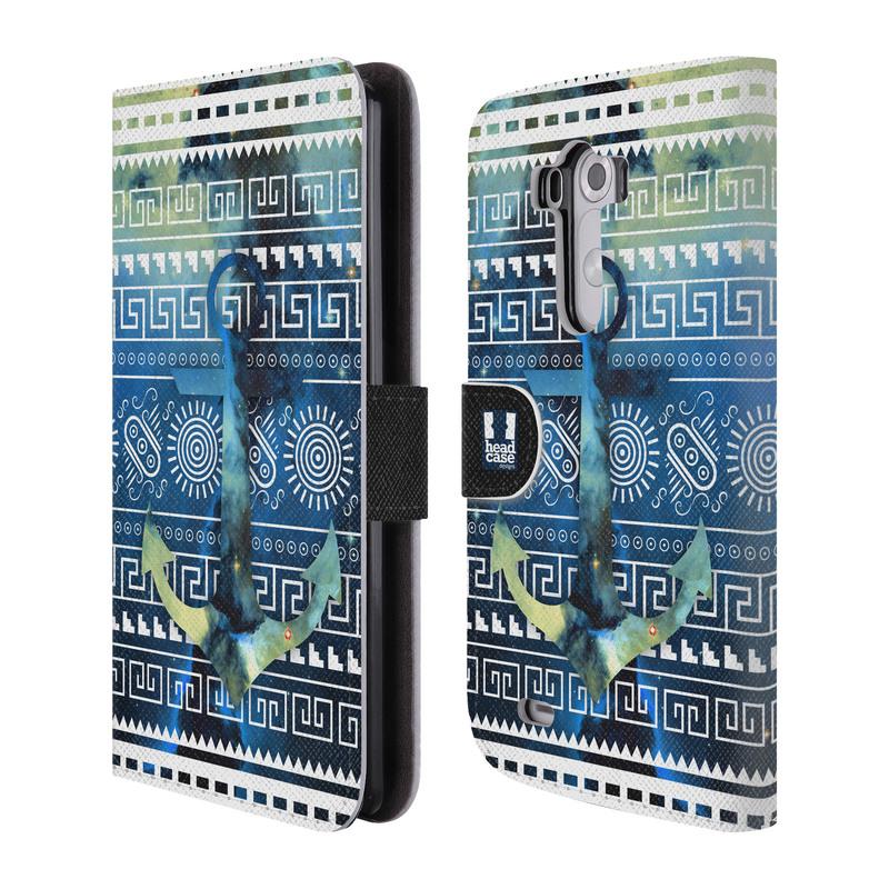 Flipové pouzdro na mobil LG G3 HEAD CASE NEBULA KOTVA (Flipový vyklápěcí kryt či obal z umělé kůže na mobilní telefon LG G3 D855)