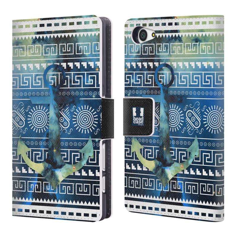 Flipové pouzdro na mobil Sony Xperia Z5 Compact HEAD CASE NEBULA KOTVA (Flipový vyklápěcí kryt či obal z umělé kůže na mobilní telefon Sony Xperia Z5 Compact E5823)