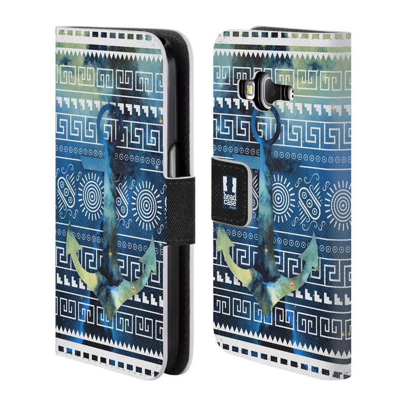 Flipové pouzdro na mobil Samsung Galaxy Core Prime LTE HEAD CASE NEBULA KOTVA (Flipový vyklápěcí kryt či obal z umělé kůže na mobilní telefon Samsung Galaxy Core Prime LTE SM-G360)