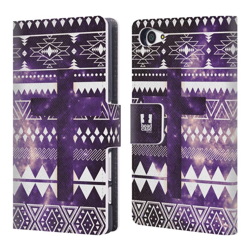 Flipové pouzdro na mobil Sony Xperia Z5 Compact HEAD CASE Aztec Cross (Flipový vyklápěcí kryt či obal z umělé kůže na mobilní telefon Sony Xperia Z5 Compact E5823)