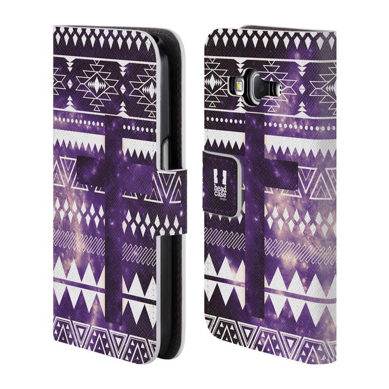Flipové pouzdro na mobil Samsung Galaxy Core Prime LTE HEAD CASE Aztec Cross (Flipový vyklápěcí kryt či obal z umělé kůže na mobilní telefon Samsung Galaxy Core Prime LTE SM-G360)