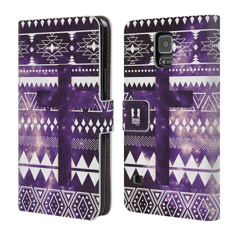 Flipové pouzdro na mobil Samsung Galaxy S5 HEAD CASE Aztec Cross (Flipový vyklápěcí kryt či obal z umělé kůže na mobilní telefon Samsung Galaxy S5 SM-G900)