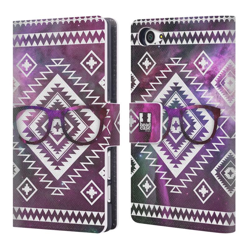 Flipové pouzdro na mobil Sony Xperia Z5 Compact HEAD CASE NEBULA BRÝLE (Flipový vyklápěcí kryt či obal z umělé kůže na mobilní telefon Sony Xperia Z5 Compact E5823)