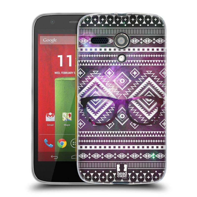 Silikonové pouzdro na mobil Motorola Moto G HEAD CASE NEBULA BRÝLE (Silikonový kryt či obal na mobilní telefon Motorola Moto G)