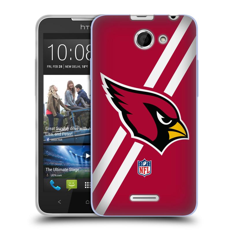 Silikonové pouzdro na mobil HTC Desire 516 HEAD CASE NFL - Arizona Cardinals (Silikonový kryt či obal na mobilní telefon licencovaným motivem NFL pro HTC Desire 516 Dual SIM)