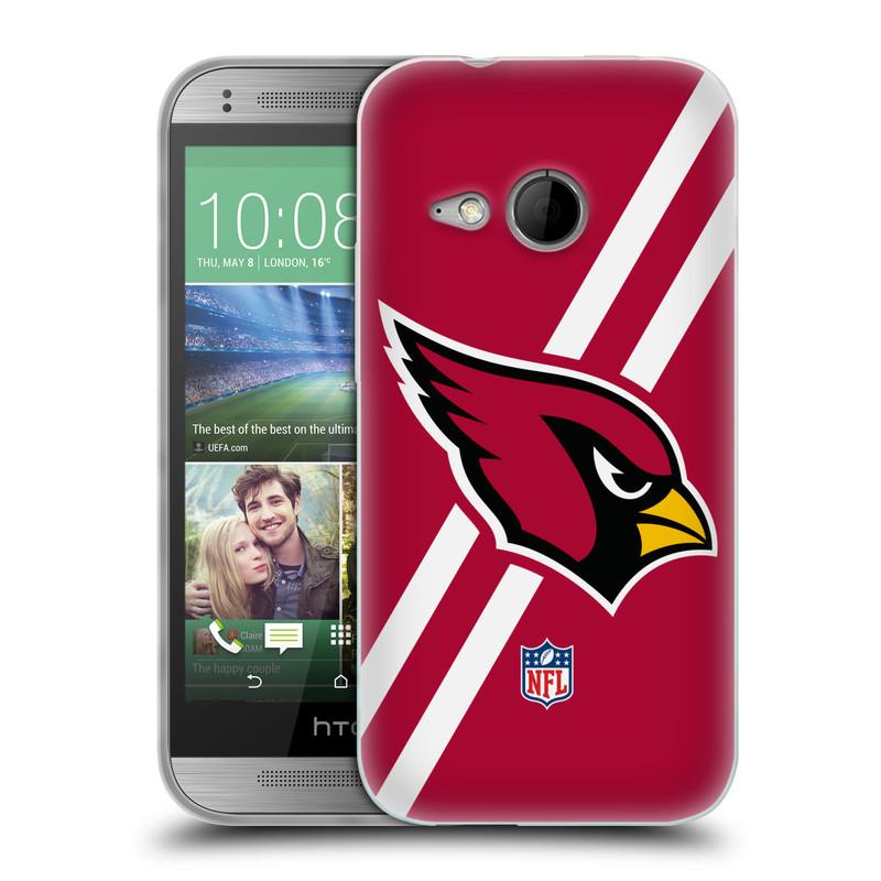 Silikonové pouzdro na mobil HTC ONE Mini 2 HEAD CASE NFL - Arizona Cardinals (Silikonový kryt či obal na mobilní telefon licencovaným motivem NFL pro HTC ONE Mini 2)