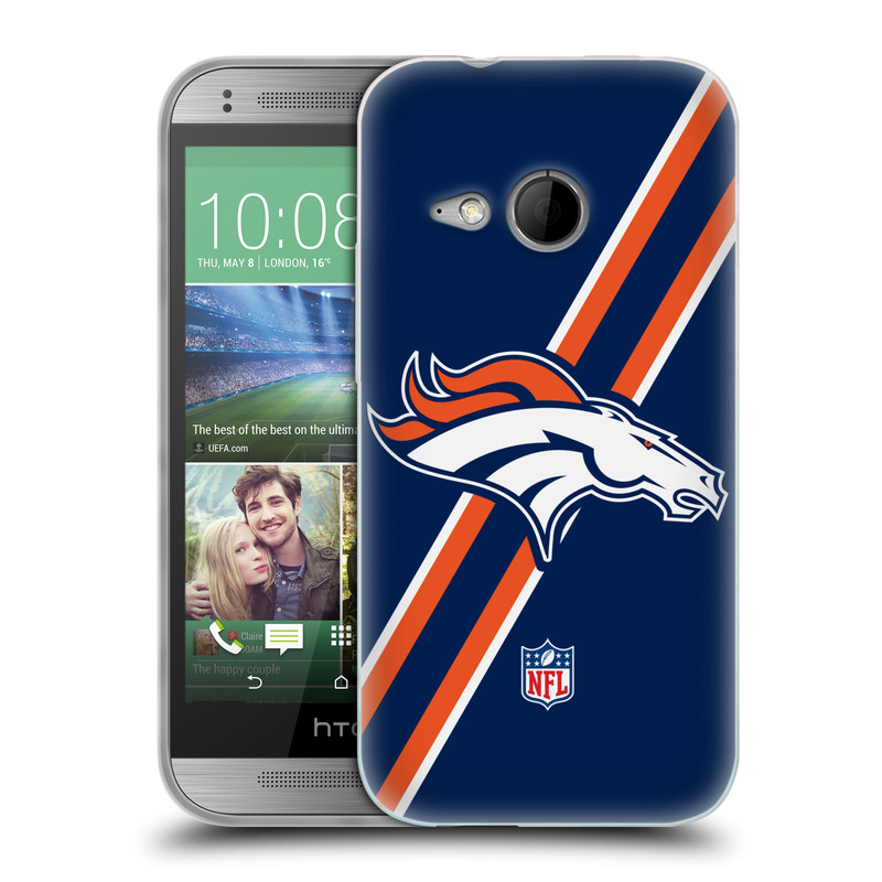 Silikonové pouzdro na mobil HTC ONE Mini 2 HEAD CASE NFL - Denver Broncos (Silikonový kryt či obal na mobilní telefon licencovaným motivem NFL pro HTC ONE Mini 2)