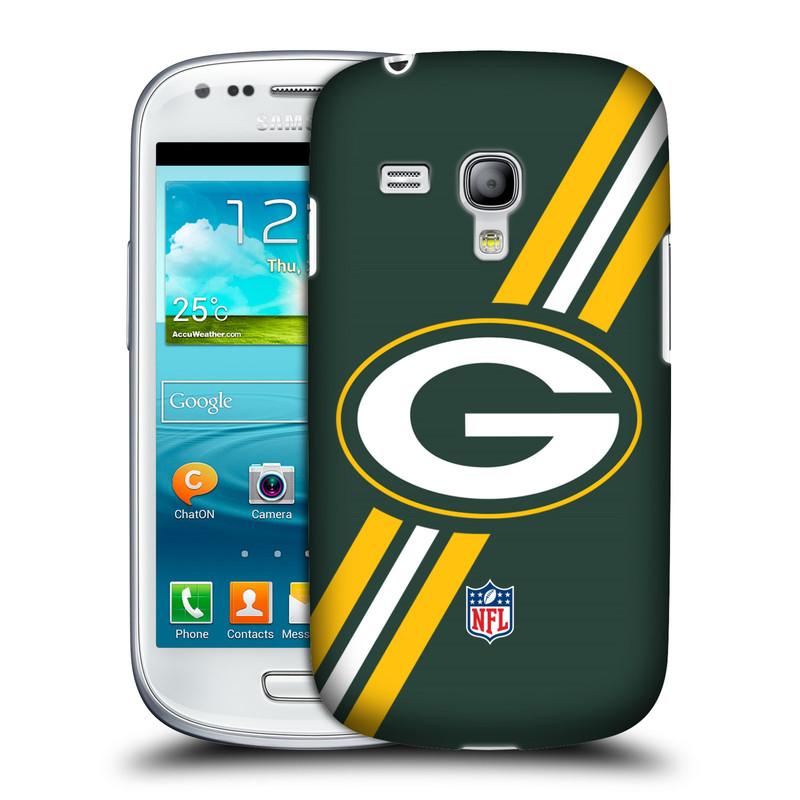 Silikonové pouzdro na mobil Samsung Galaxy S III Mini VE HEAD CASE NFL - Green Bay Packers (Plastový kryt či obal na mobilní telefon licencovaným motivem NFL pro Samsung Galaxy S3 Mini VE GT-i8200)