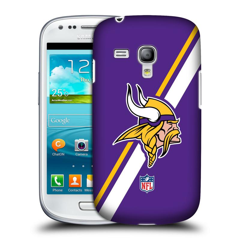 Silikonové pouzdro na mobil Samsung Galaxy S III Mini VE HEAD CASE NFL - Minnesota Vikings (Plastový kryt či obal na mobilní telefon licencovaným motivem NFL pro Samsung Galaxy S3 Mini VE GT-i8200)
