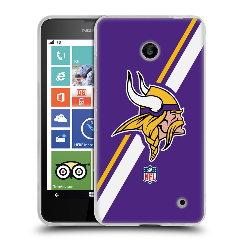 Silikonové pouzdro na mobil Nokia Lumia 635 HEAD CASE NFL - Minnesota Vikings (Silikonový kryt či obal na mobilní telefon licencovaným motivem NFL pro Nokia Lumia 635 Dual SIM)