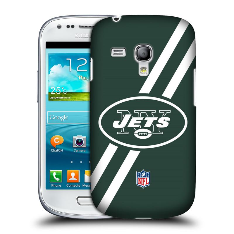 Silikonové pouzdro na mobil Samsung Galaxy S III Mini VE HEAD CASE NFL - New York Jets (Plastový kryt či obal na mobilní telefon licencovaným motivem NFL pro Samsung Galaxy S3 Mini VE GT-i8200)
