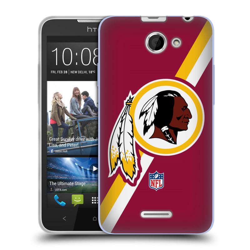 Silikonové pouzdro na mobil HTC Desire 516 HEAD CASE NFL - Washington Redskins (Silikonový kryt či obal na mobilní telefon licencovaným motivem NFL pro HTC Desire 516 Dual SIM)