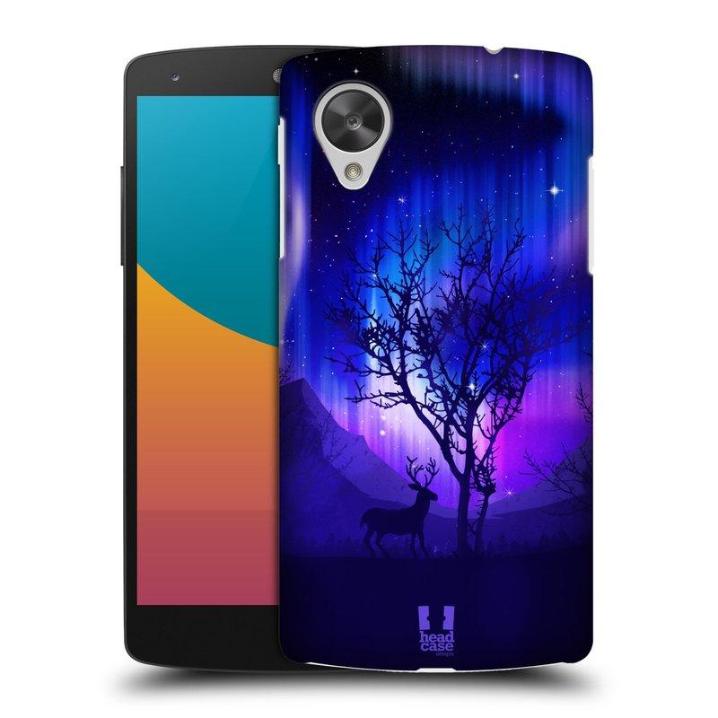 Plastové pouzdro na mobil LG Nexus 5 HEAD CASE Polární Záře Strom (Kryt či obal na mobilní telefon LG Google Nexus 5 D821)