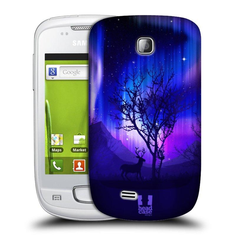Plastové pouzdro na mobil Samsung Galaxy Mini HEAD CASE Polární Záře Strom (Kryt či obal na mobilní telefon Samsung Galaxy Mini GT-S5570 / GT-S5570i)