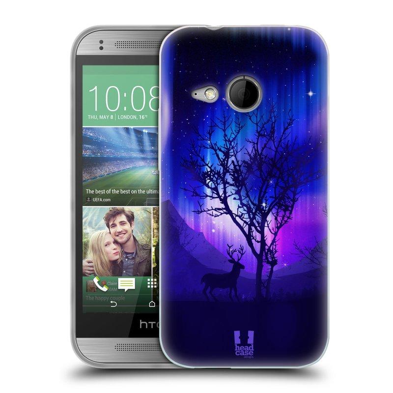 Silikonové pouzdro na mobil HTC ONE Mini 2 HEAD CASE Polární Záře Strom (Silikonový kryt či obal na mobilní telefon HTC ONE Mini 2)