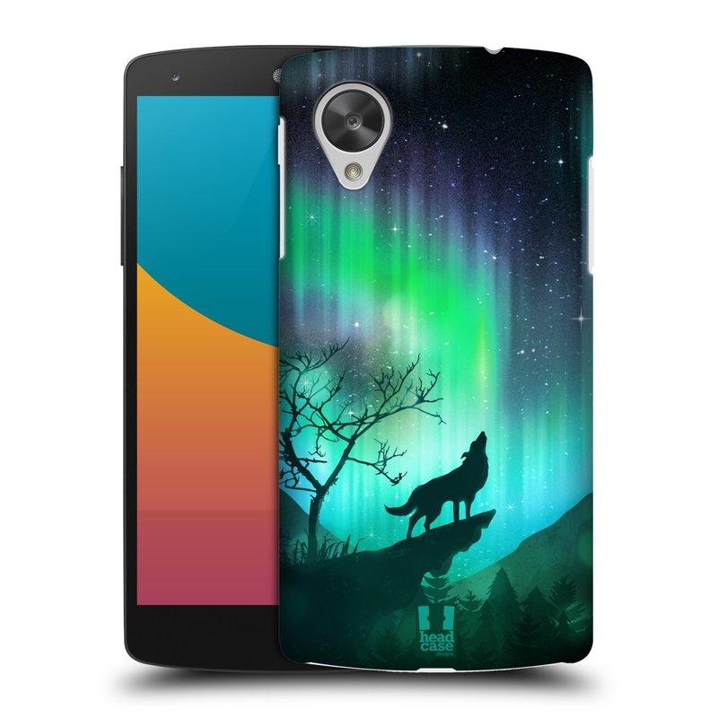 Plastové pouzdro na mobil LG Nexus 5 HEAD CASE Polární Záře Vlk (Kryt či obal na mobilní telefon LG Google Nexus 5 D821)