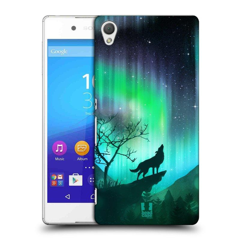 Plastové pouzdro na mobil Sony Xperia Z3+ (Plus) HEAD CASE Polární Záře Vlk (Kryt či obal na mobilní telefon Sony Xperia Z3+ a Sony Xperia Z4 )