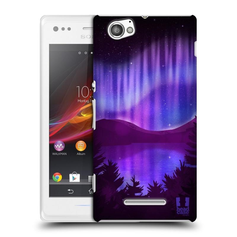 Plastové pouzdro na mobil Sony Xperia M C1905 HEAD CASE Polární Záře Nad Jezerem (Kryt či obal na mobilní telefon Sony Xperia M )