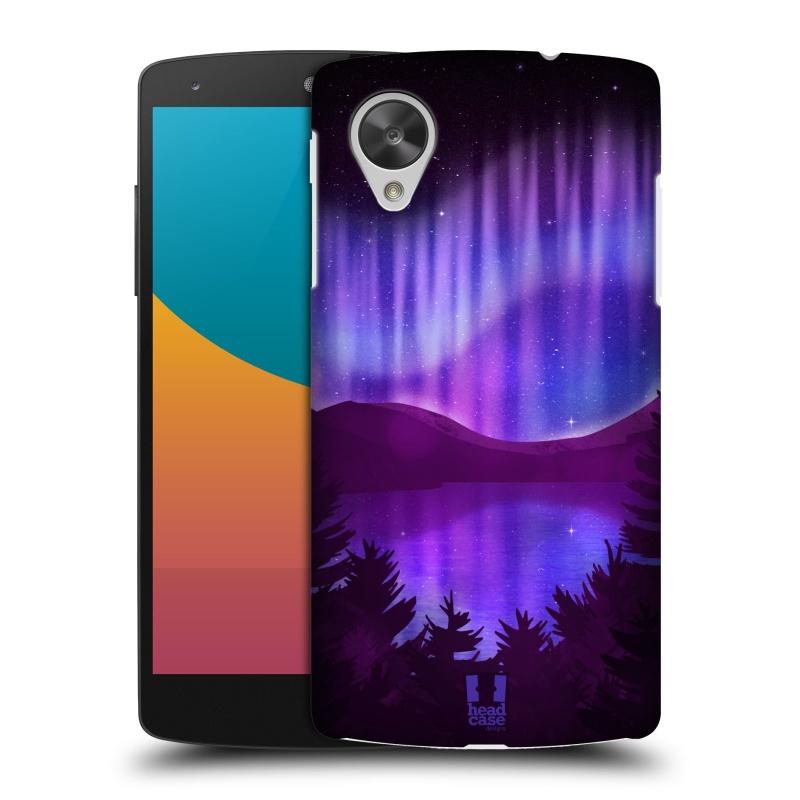 Plastové pouzdro na mobil LG Nexus 5 HEAD CASE Polární Záře Nad Jezerem (Kryt či obal na mobilní telefon LG Google Nexus 5 D821)