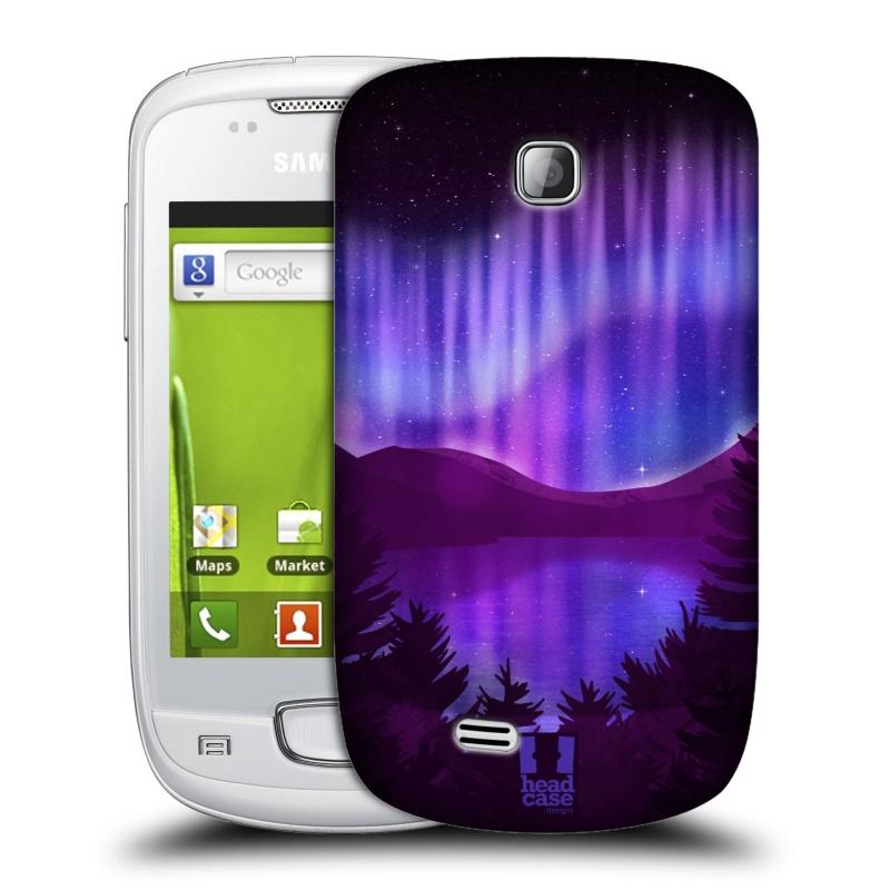 Plastové pouzdro na mobil Samsung Galaxy Mini HEAD CASE Polární Záře Nad Jezerem (Kryt či obal na mobilní telefon Samsung Galaxy Mini GT-S5570 / GT-S5570i)