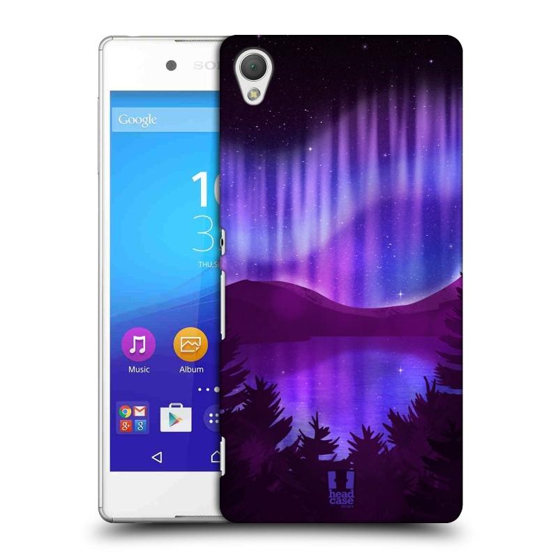 Plastové pouzdro na mobil Sony Xperia Z3+ (Plus) HEAD CASE Polární Záře Nad Jezerem (Kryt či obal na mobilní telefon Sony Xperia Z3+ a Sony Xperia Z4 )
