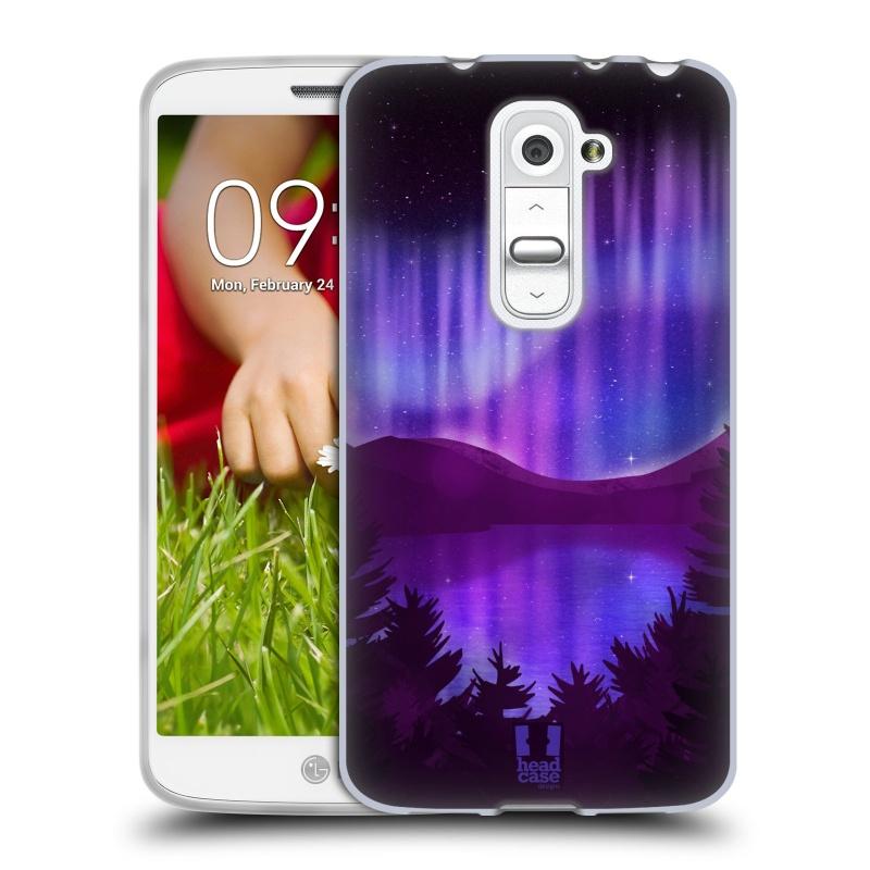 Silikonové pouzdro na mobil LG G2 Mini HEAD CASE Polární Záře Nad Jezerem (Silikonový kryt či obal na mobilní telefon LG G2 Mini D620)