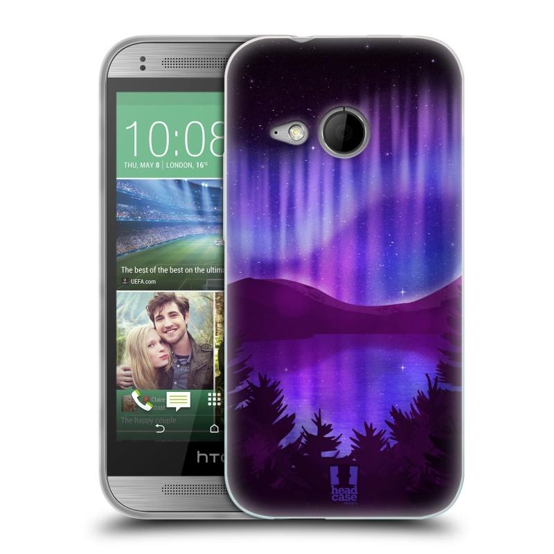 Silikonové pouzdro na mobil HTC ONE Mini 2 HEAD CASE Polární Záře Nad Jezerem (Silikonový kryt či obal na mobilní telefon HTC ONE Mini 2)