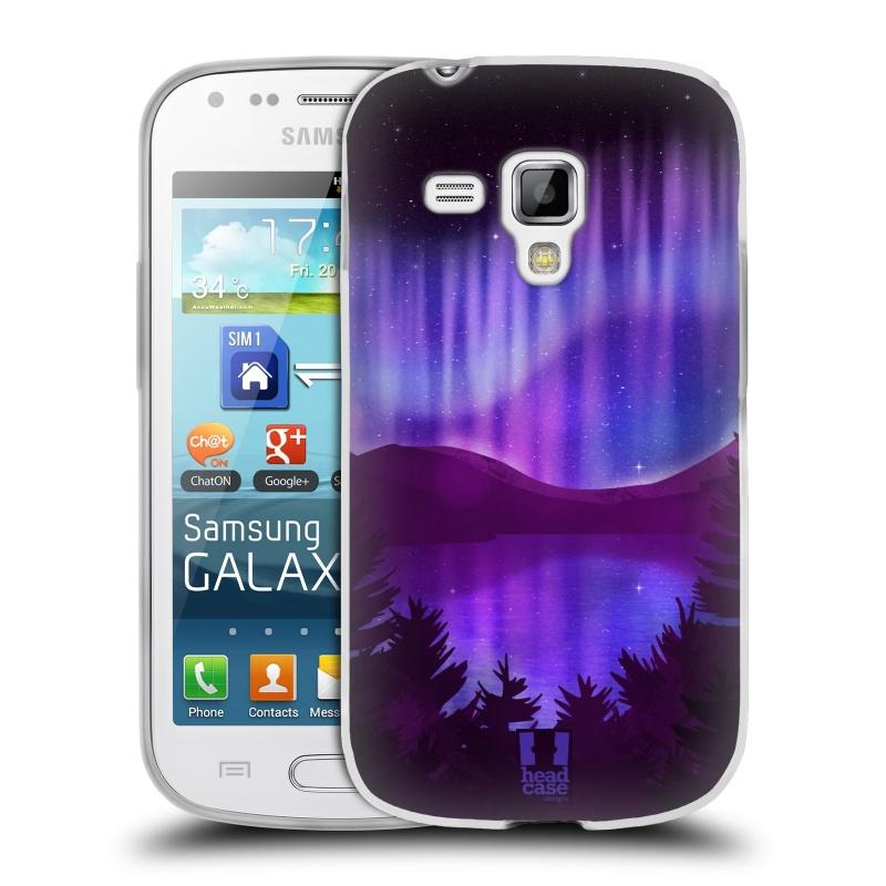 Silikonové pouzdro na mobil Samsung Galaxy S Duos HEAD CASE Polární Záře Nad Jezerem (Silikonový kryt či obal na mobilní telefon Samsung Galaxy S Duos GT-S7562)