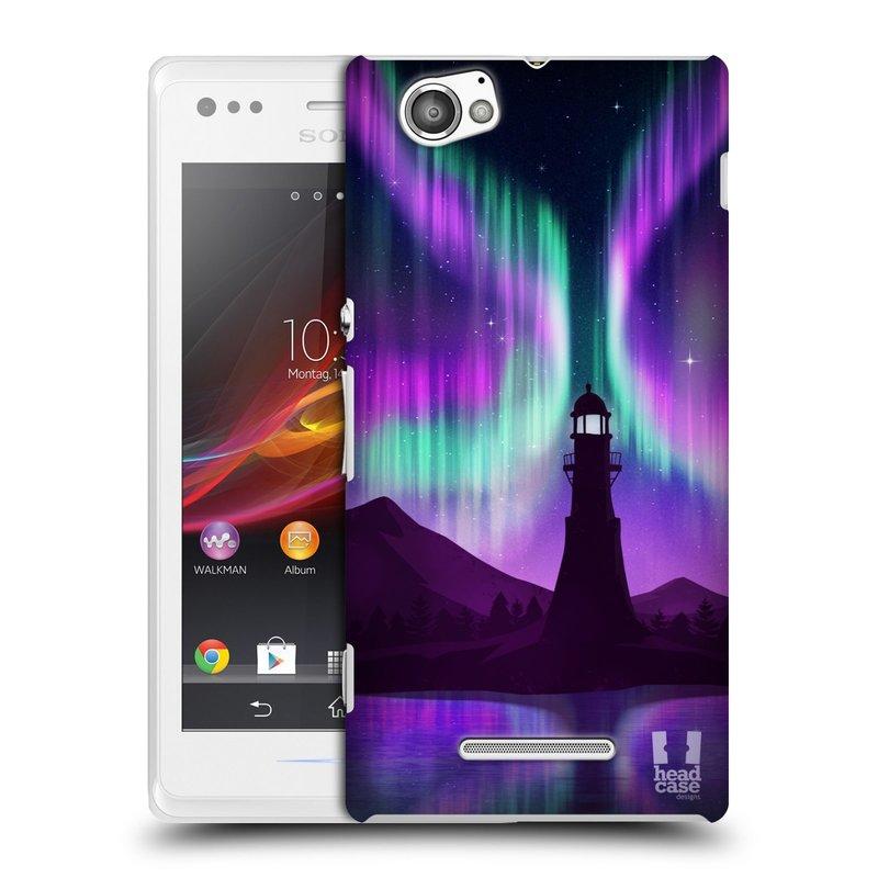 Plastové pouzdro na mobil Sony Xperia M C1905 HEAD CASE Polární Záře Maják (Kryt či obal na mobilní telefon Sony Xperia M )