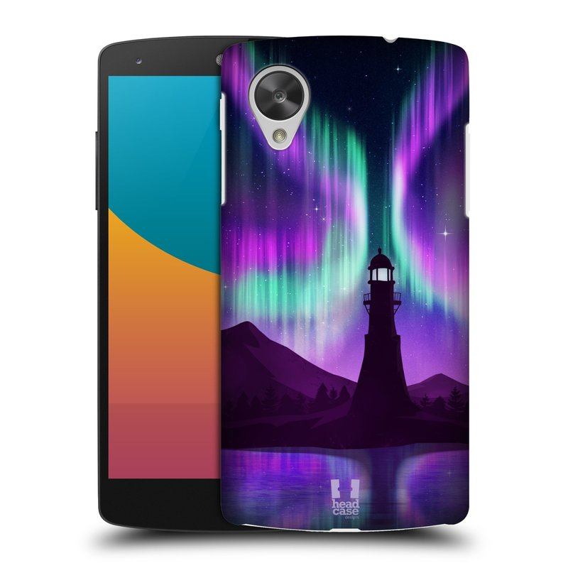 Plastové pouzdro na mobil LG Nexus 5 HEAD CASE Polární Záře Maják (Kryt či obal na mobilní telefon LG Google Nexus 5 D821)