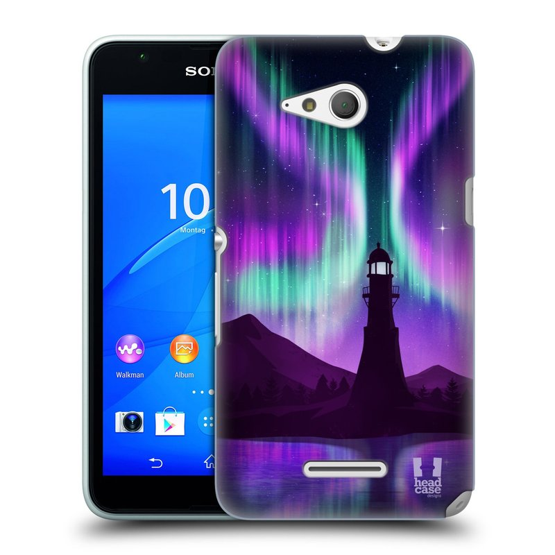 Plastové pouzdro na mobil Sony Xperia E4g E2003 HEAD CASE Polární Záře Maják (Kryt či obal na mobilní telefon Sony Xperia E4g a E4g Dual SIM)