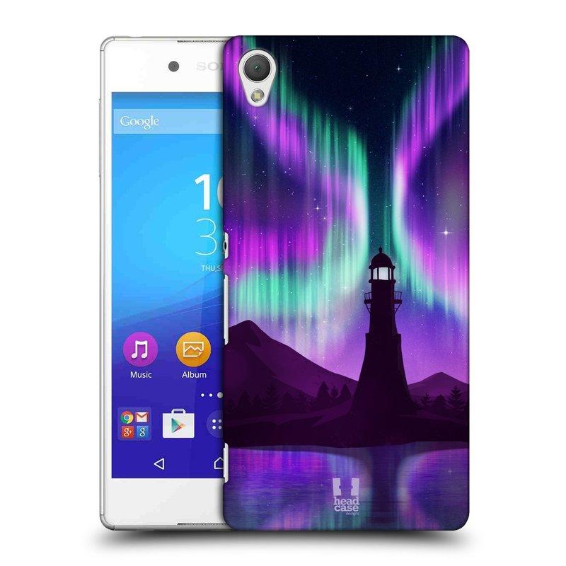 Plastové pouzdro na mobil Sony Xperia Z3+ (Plus) HEAD CASE Polární Záře Maják (Kryt či obal na mobilní telefon Sony Xperia Z3+ a Sony Xperia Z4 )