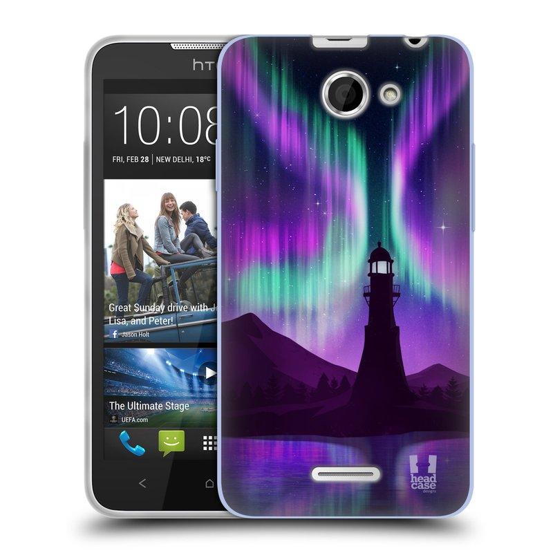 Silikonové pouzdro na mobil HTC Desire 516 HEAD CASE Polární Záře Maják (Silikonový kryt či obal na mobilní telefon HTC Desire 516 Dual SIM)