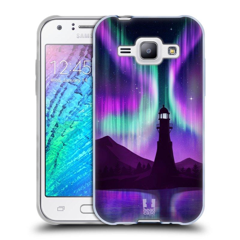 Silikonové pouzdro na mobil Samsung Galaxy J1 HEAD CASE Polární Záře Maják (Silikonový kryt či obal na mobilní telefon Samsung Galaxy J1 a J1 Duos)